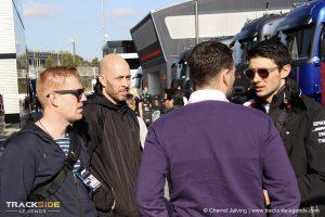 F1 Pre-season testing Day 1 - Esteban Ocon - Charrel Jalving - Julien Sevat - F1 Paddock