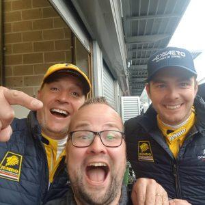 Dennis Broekhart at 6hrs of Spa with Frits van Eerd and Guido van der Garde