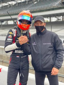 Rinus Veekay at Indianapolis Harvest GP - Renger