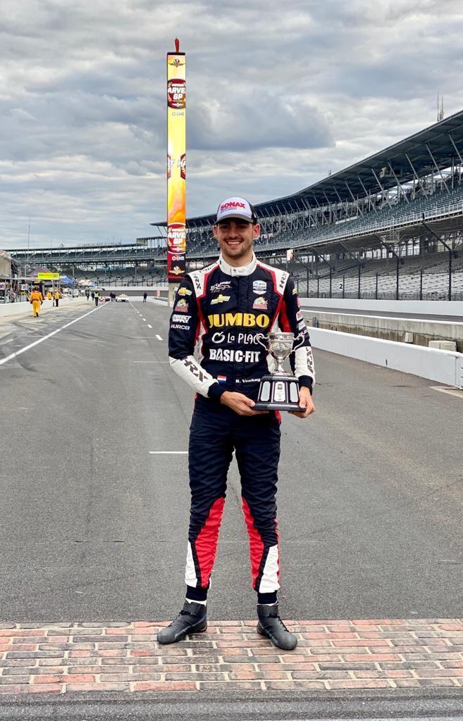 Rinus Veekay at Indianapolis Harvest GP - Trophy