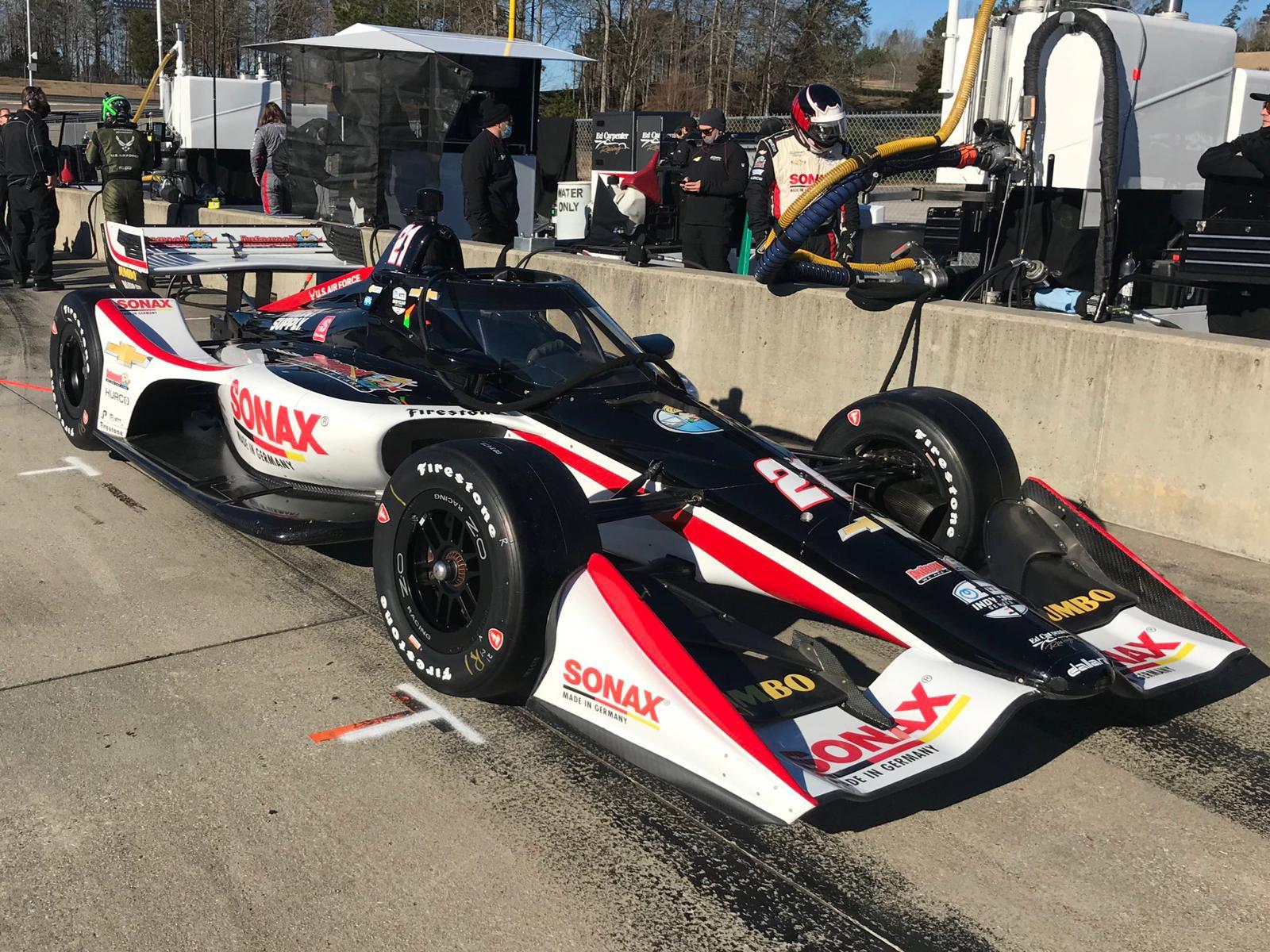 Car - Rinus Veekay at Indycar Winter test