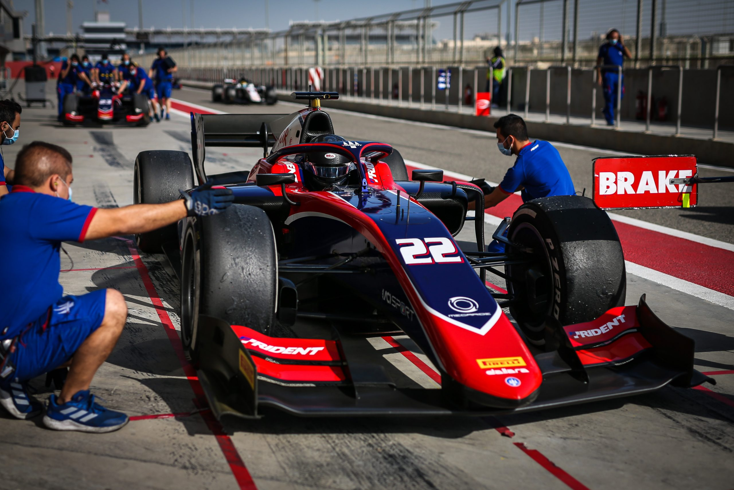 SAKHIR (BH), 8-10 December 2020: F2 Post season test at Bahrain International Circuit. Bent Viscaal #22 Trident. © 2020 Sebastiaan Rozendaal / Dutch Photo Agency