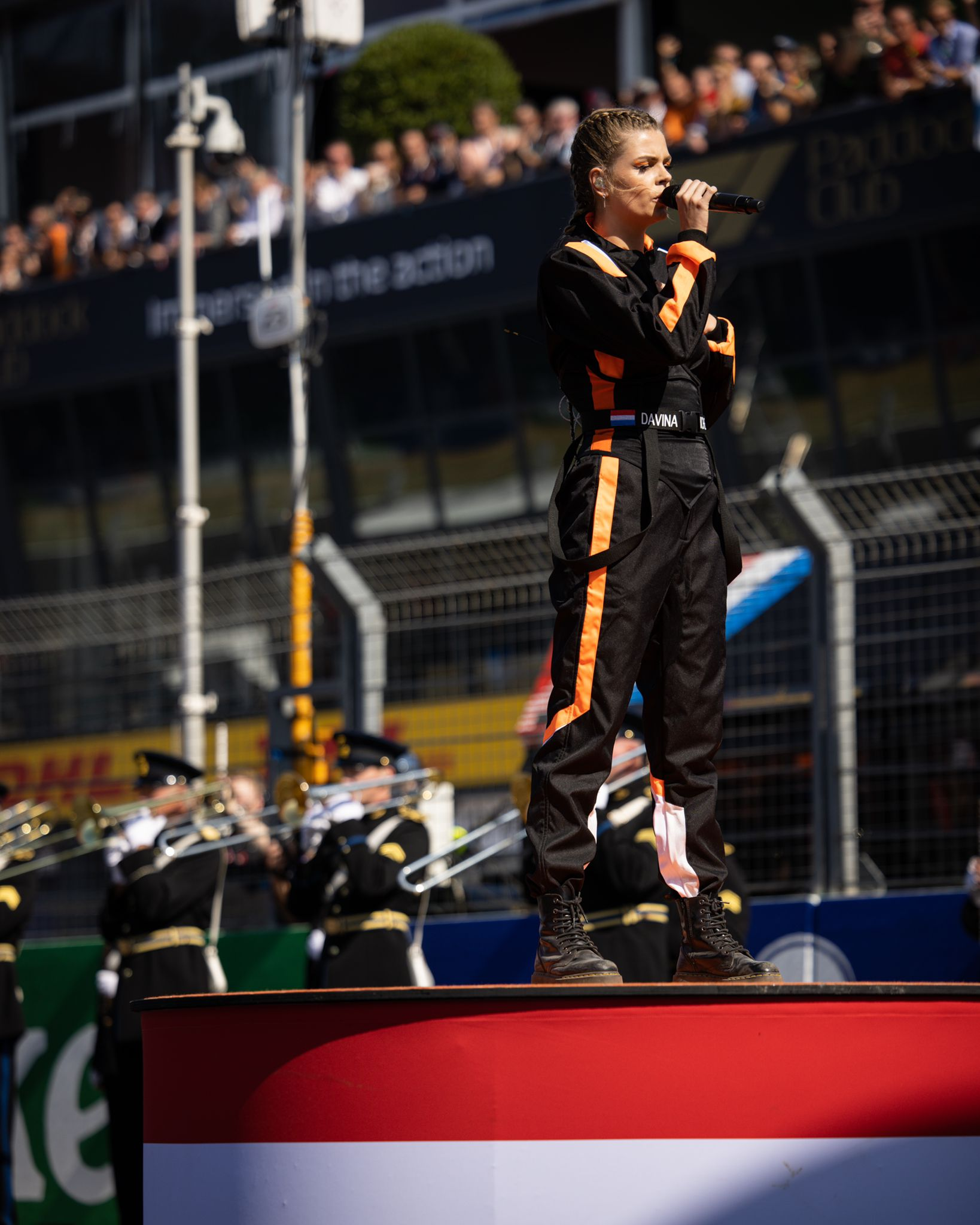 Davina Michelle on the podium (DGP Media)